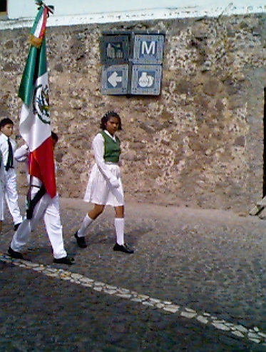 Boy and Girl with Flag
